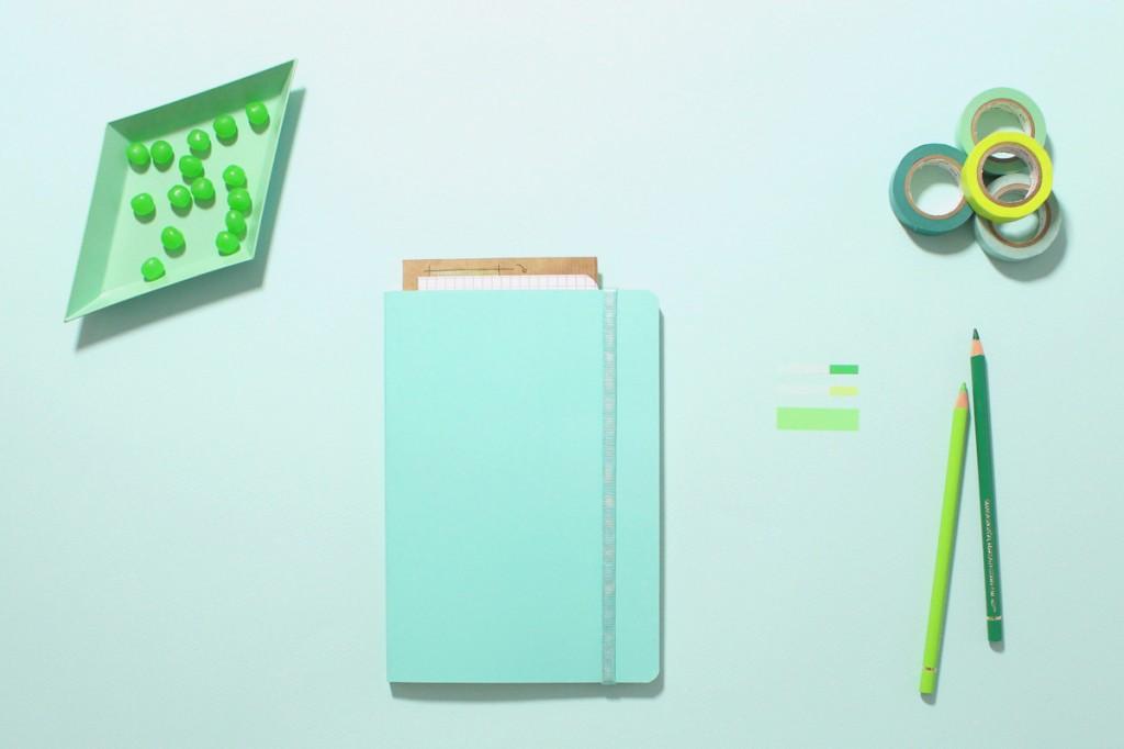 collection, green, vert, mint