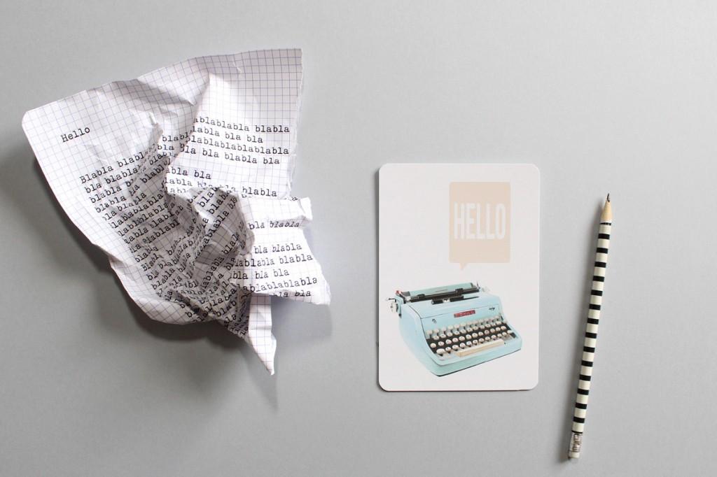 Carte postale, illustration, miss-etc