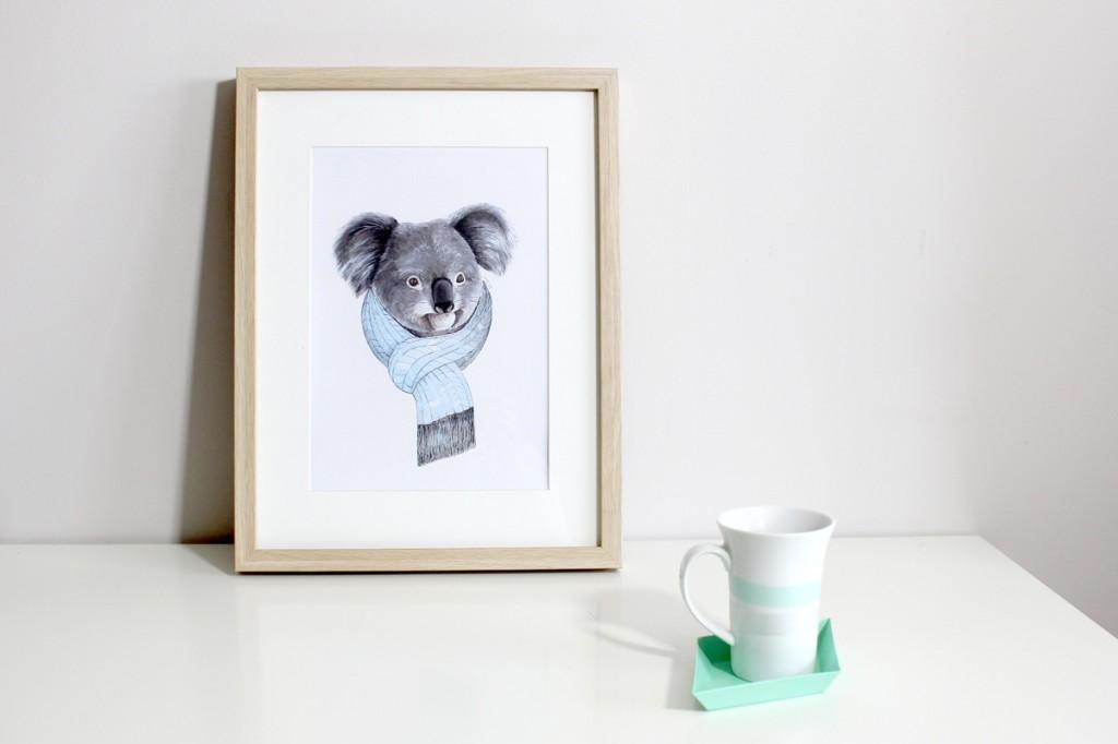 Affichette, Koala, Miss-etc