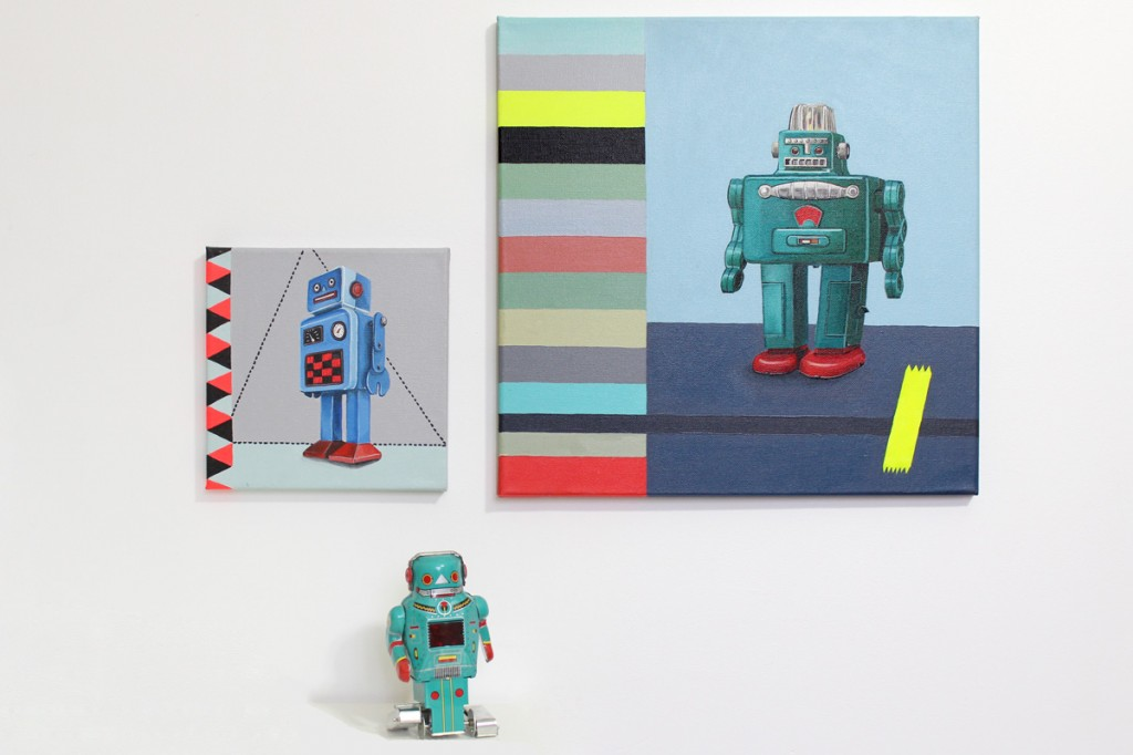 robots; Toiles; tableaux; Miss-etc