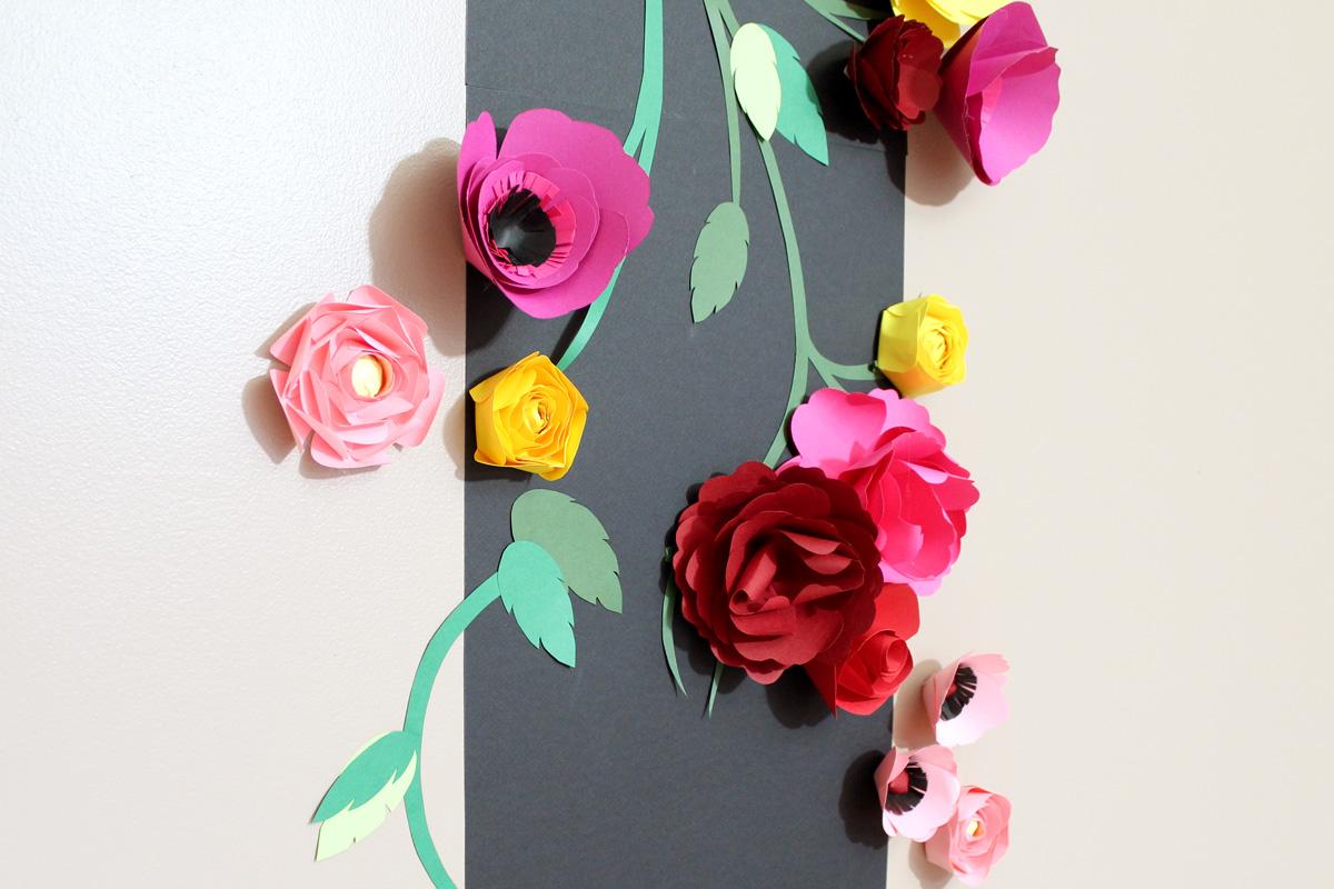 Des Fleurs En Relief Sur Mon Mur