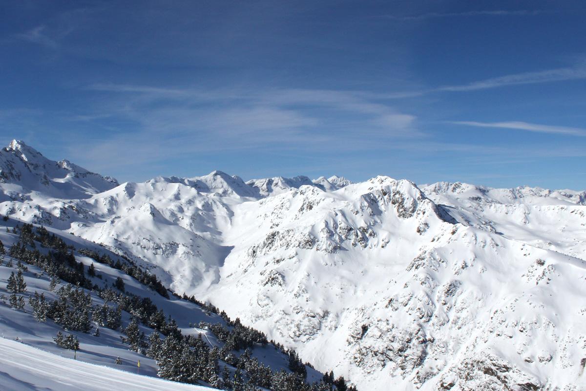 Montagne, Bonascre, soleil, neige