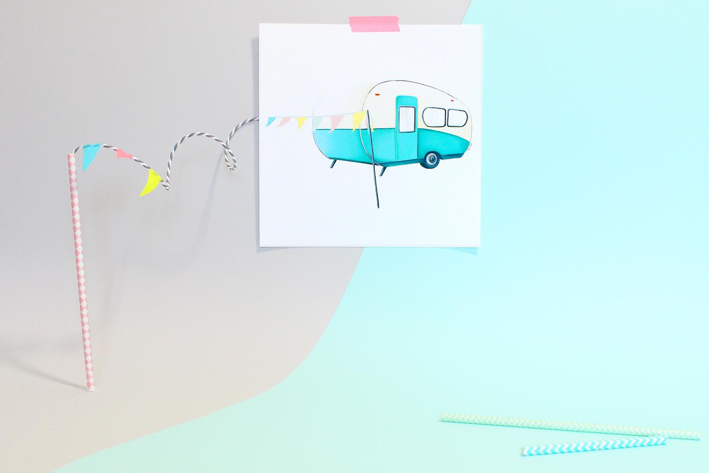 Affiche caravane, miss-etc