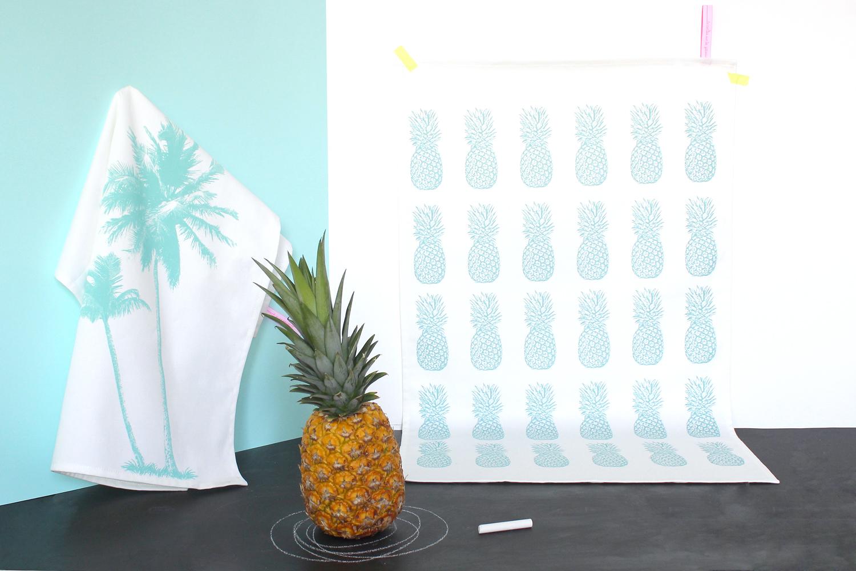 torchon ananas La cerise sur le gateau portfolio miss etc