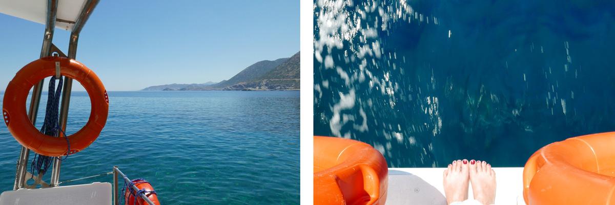 Sur le bateau voyage en crete de miss-etc